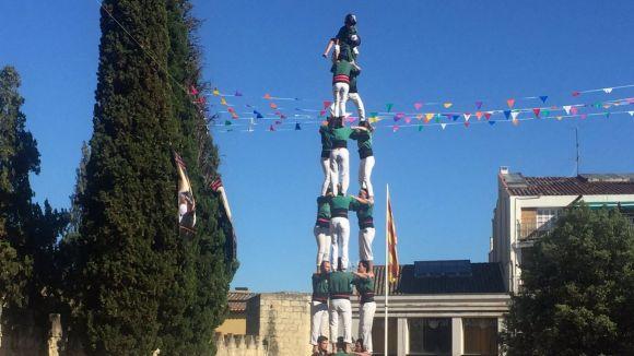 Reviu l'actuació dels Castellers de Sant Cugat a la Festa Major