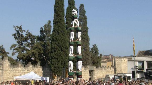 Regust agredolç en l'actuació castellera de Festa Major