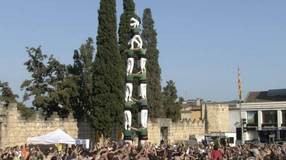 Els Gausacs llueixen castells de 7 amb les colles de Sant Medir