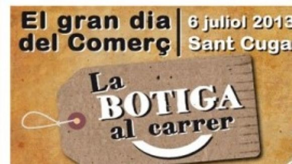 Cartell oficial de La Botiga al Carrer / Font: Sant Cugat Comerç