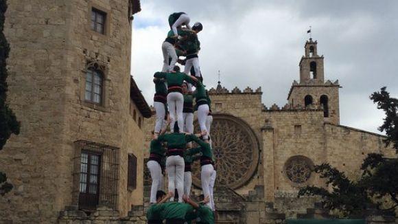 Els castells de 7 marquen la Diada de Padrins i Fillols dels Gausacs