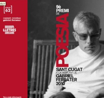 54 obres opten al guardó del 9è Premi Sant Cugat de poesia a la memoria de Gabriel Ferreter