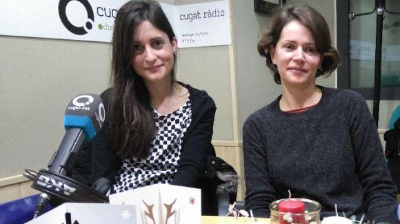 D'esquerra dreta, Carla Busquets i Iris Sospedra