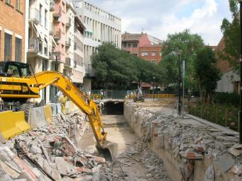 Estat de les obres a la rambla Jaume Sàbat