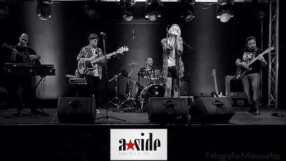 Una actuació de la la banda A-Side / Foto: A-Side