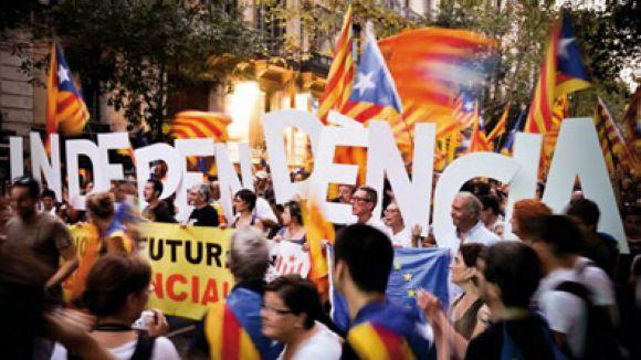 Nova parada informativa de l'ANC a favor de la V catalana