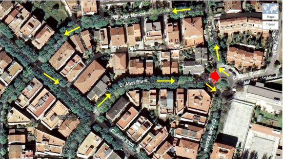 Paralitzat el trànsit per obres a la plaça Abat Donadeu la setmana que ve