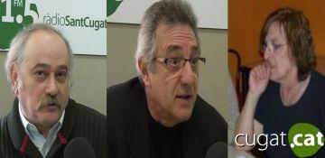 D'esquerra a dreta, Sam Abrams, Víctor Alexandre i Marta Pessarodona