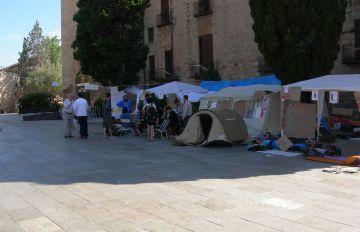 Els 'indignats' continuaran a la plaça d'Octavià una setmana més