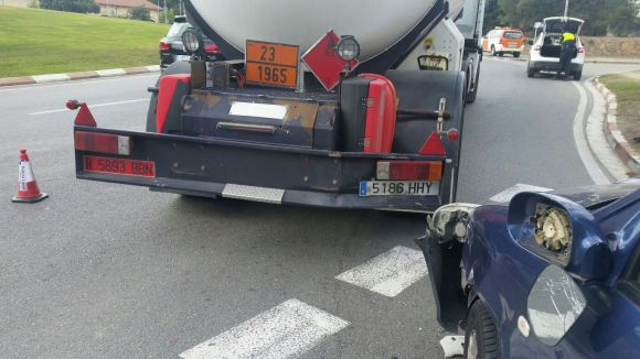Imatge del resultat de l'accident / Foto: Premsa Ajuntament de Sant Cugat