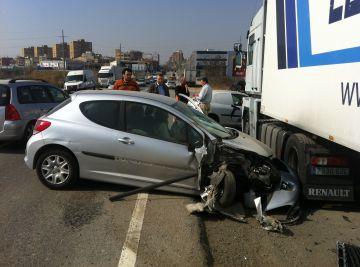 Accident sense ferits a la carretera de Rubí