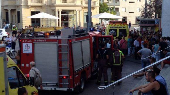 Imatge del desplegament de seguretat. /Font: Pau Johé