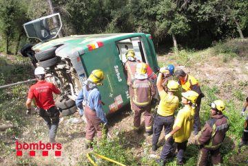 Accident d'un microbús a la Floresta amb vuit ferits lleus
