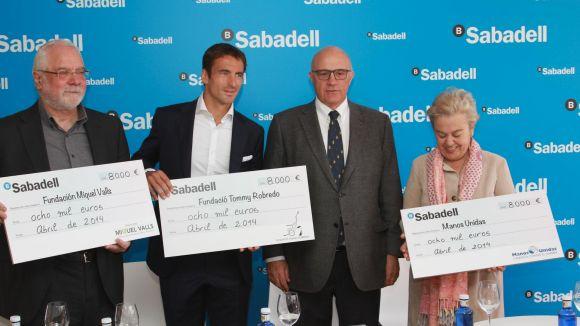Banc Sabadell entrega 24.000 euros a diverses fundacions solidàries