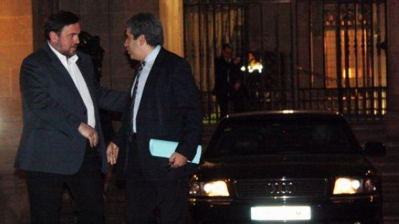CiU i ERC celebren el pacte de governabilitat que porta cap a la consulta el 2014