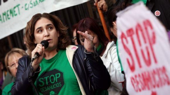 Ada Colau porta les reclamacions de la PAH a Sant Cugat