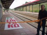 La plataforma ha 'inugurat' de forma simbòlica l'estació de Coll Favà