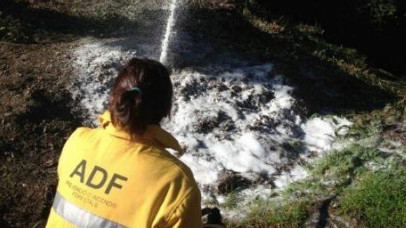 L'ADF posa a prova el nou sistema d'extinció d'incendis Pro Pak
