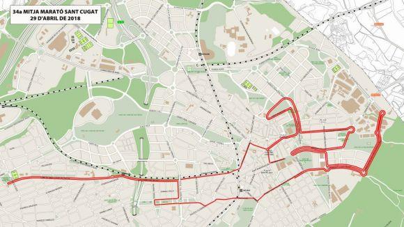 Afectacions al trànsit d'aquest diumenge per la Mitja Marató de Sant Cugat