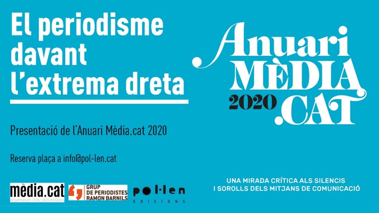Presentació de l'Anuari Mèdia.cat 2020: 'El periodisme davant l'extrema dreta'