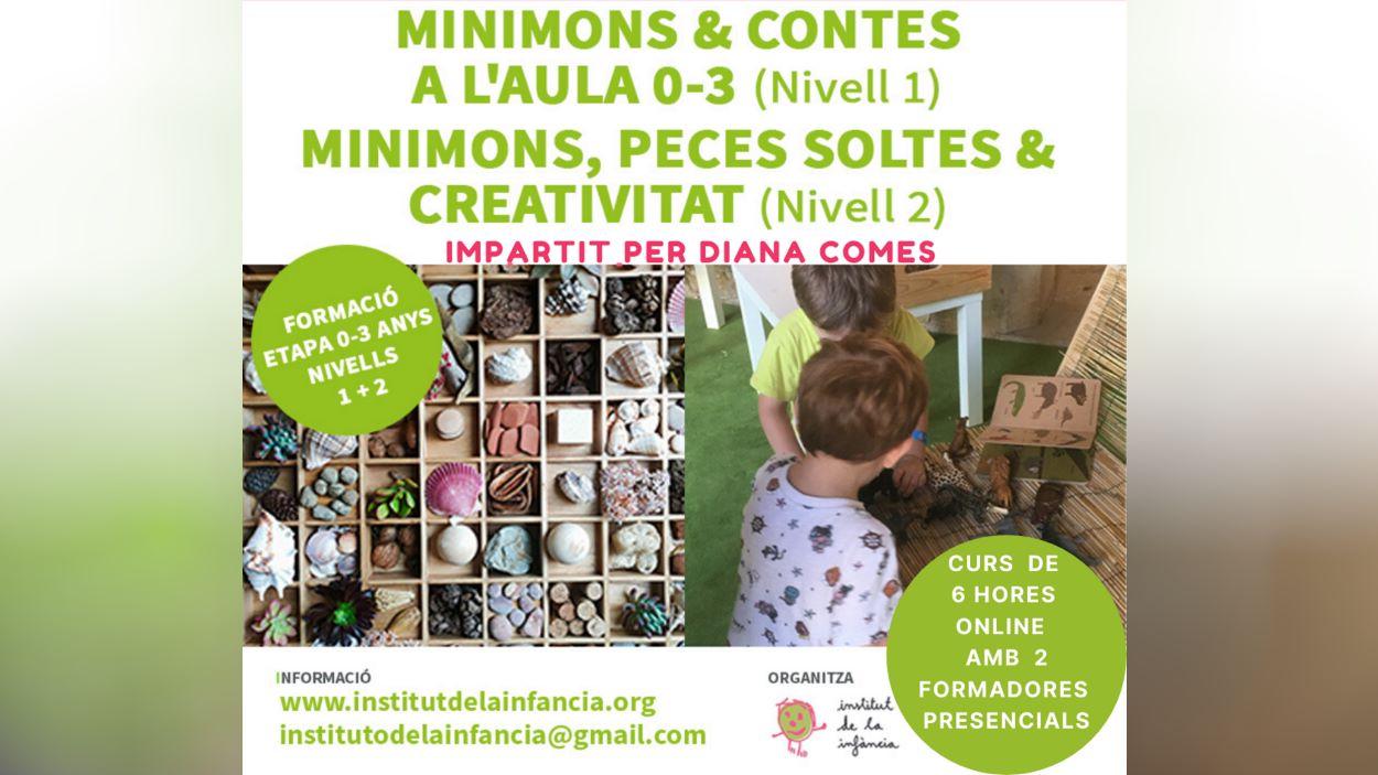 Formació: 'Minimons & contes a l'aula 0-3' i 'Minimons, peces soltes & creativitat'