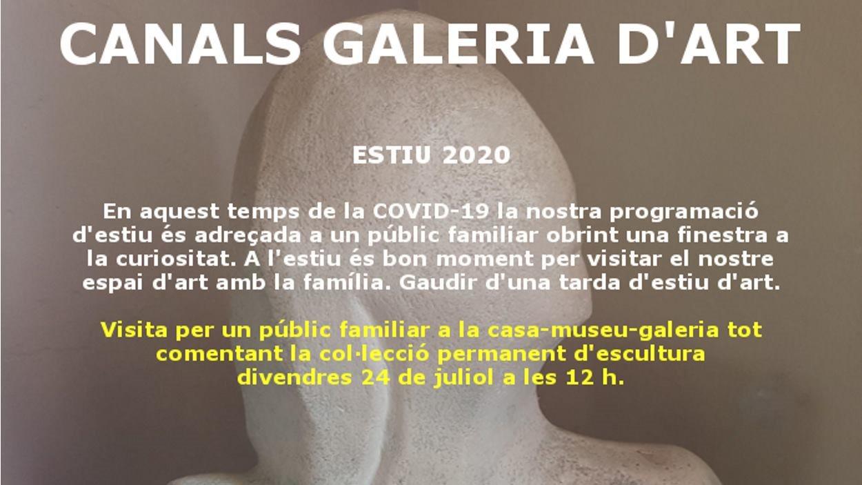 Visita comentada a la mostra d'escultures de la Canals Galeria d'Art