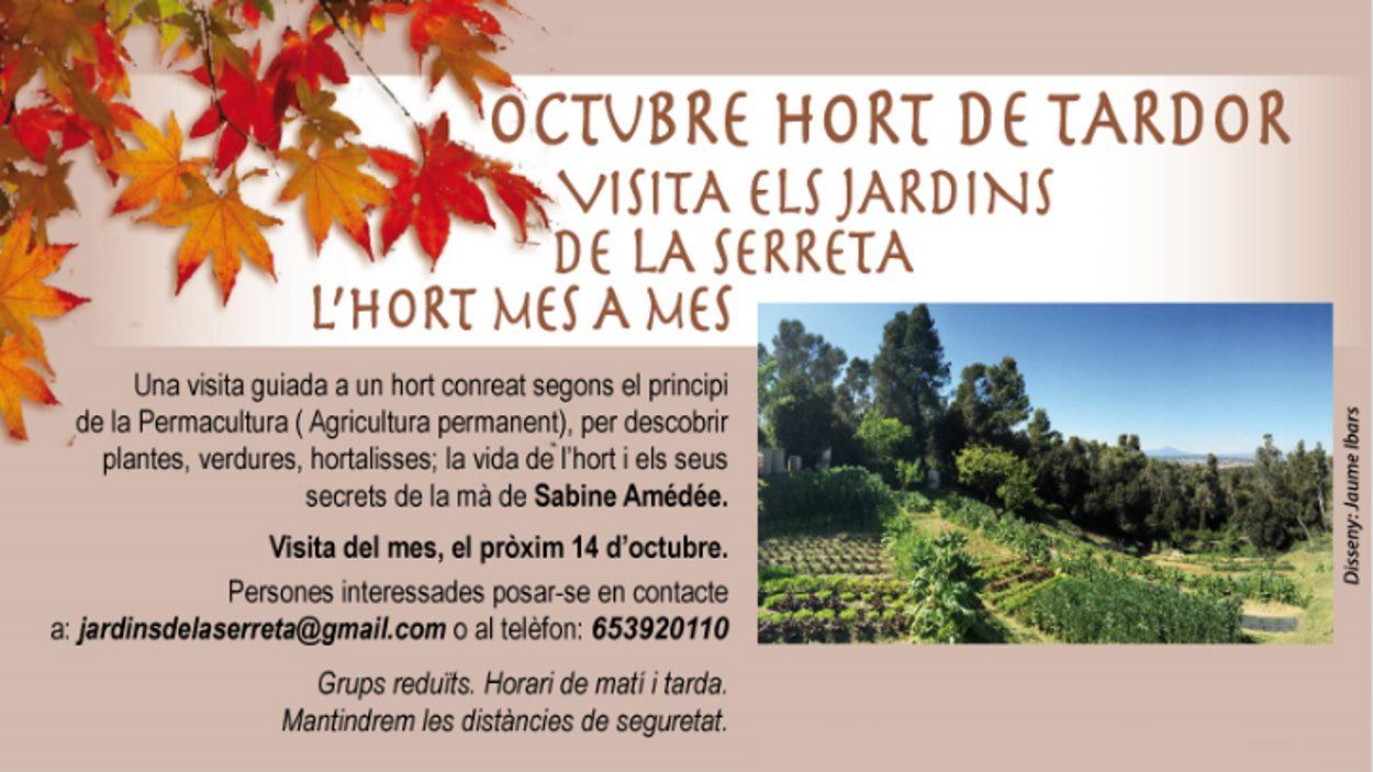 Visita: 'Jardins de la Serreta. L'hort mes a mes'