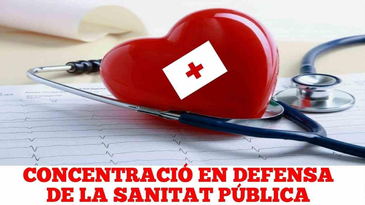 Concentració en defensa de la sanitat pública