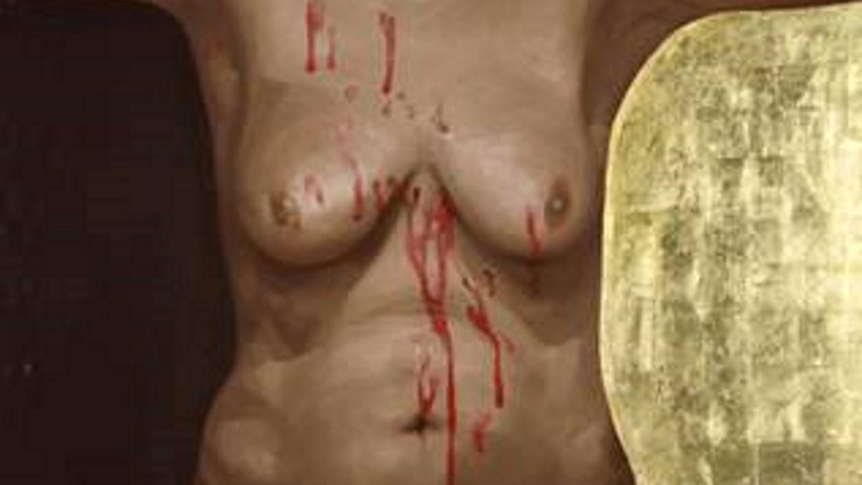 Acció artística amb motiu del 25N Dia contra les Violències Masclistes