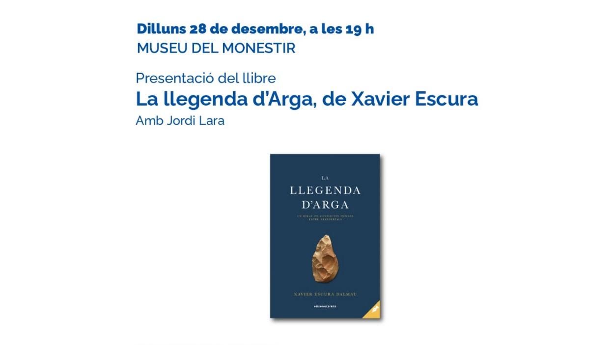 ANUL·LAT! Presentació de llibre: 'La llegenda d'Arga', de Xavier Escura