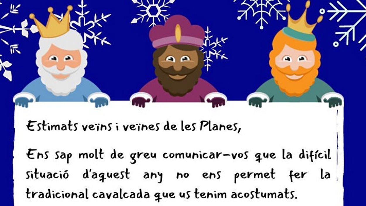 Nadal: Entrega de cartes als Reis a les Planes