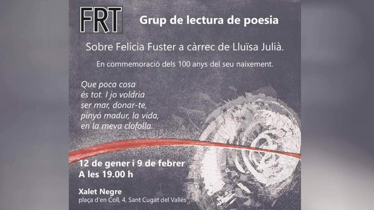AJORNAT! Grup de lectura de poesia sobre Felícia Fuster