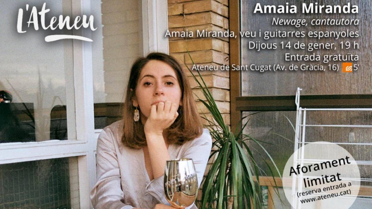 Concert 'La Cambra de l'Ateneu': Amaia Miranda - Presencial i en línia