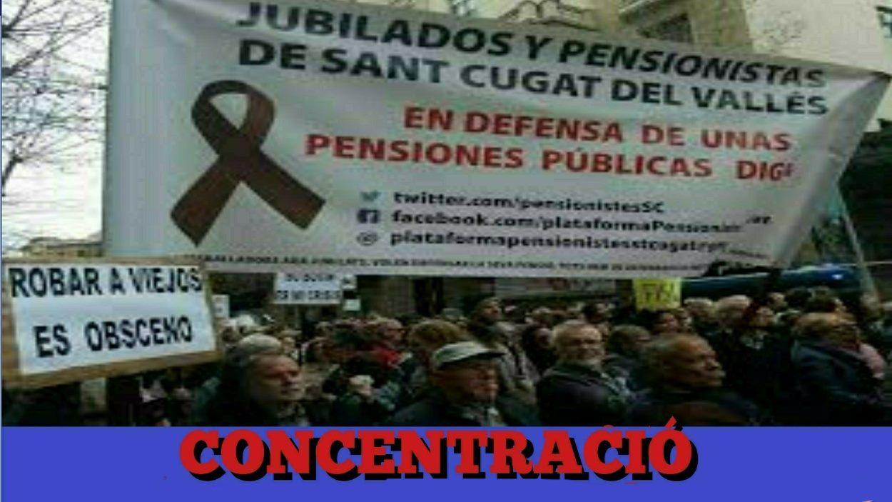 Concentració i roda de premsa: Plataforma de Pensionistes de Sant Cugat