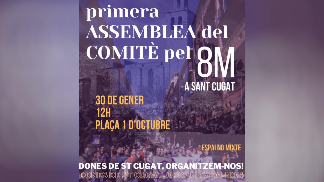 Primera assemblea del Comitè pel 8M a Sant Cugat