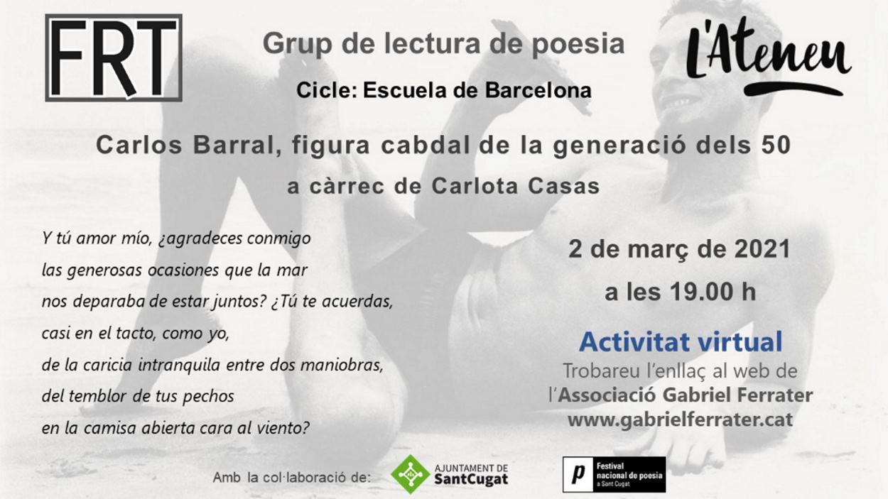ONLINE - Grup de lectura de poesia: Carlos Barral