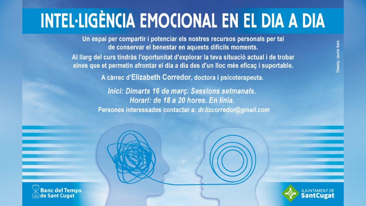 ONLINE - Banc del Temps: Inici del curs 'Intel·ligència Emocional en el dia a dia'