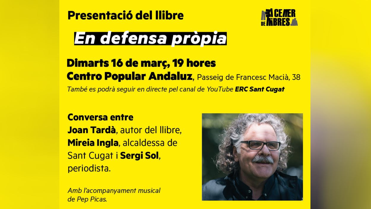 Presentació de llibre: 'En defensa pròpia', de Joan Tardà