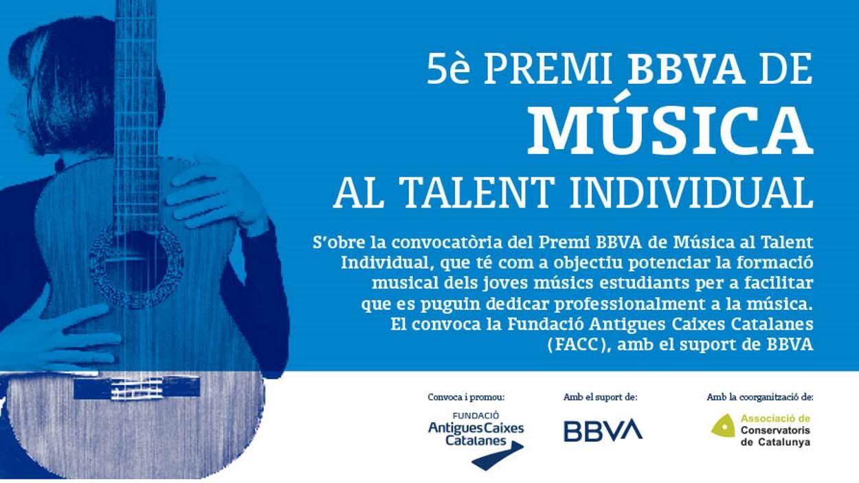 Presentació del 5è Premi BBVA de Música al Talent individual 2021