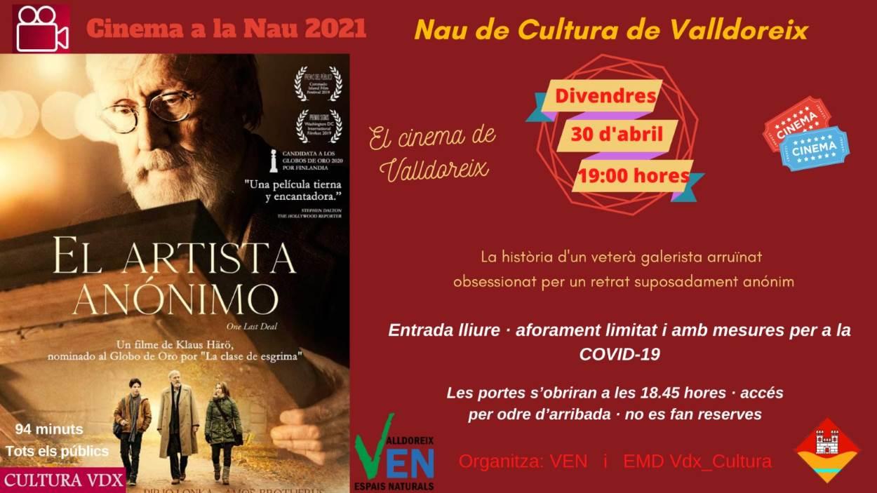Cinema a la Nau: 'El artista anónimo'