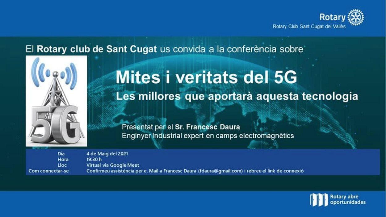 ONLINE - Conferència: 'Mites i veritats del 5G. Les millores que aportarà aquesta tecnologia'