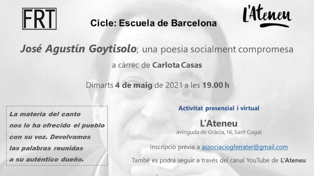 Grup de lectura de poesia: José Agustín Goytisolo - Presencial i en línia