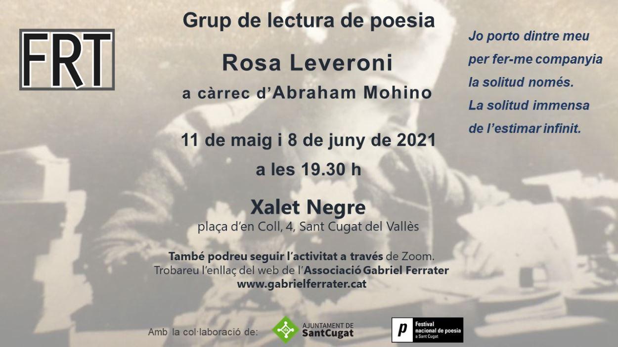 Grup de lectura de poesia: Rosa Leveroni - Presencial i en línia