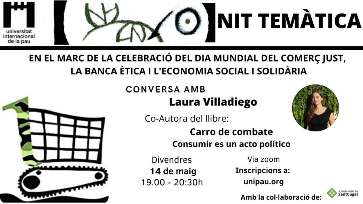 ONLINE - Nits temàtiques de la Unipau: Conversa amb Laura Villadiego