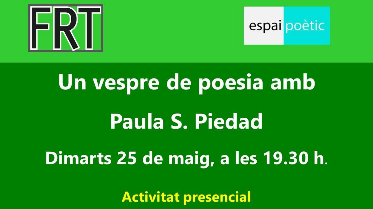 Espai Poètic: Un vespre de poesia amb Paula S. Piedad - Presencial i en línia