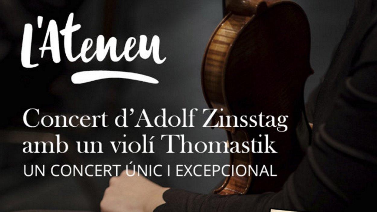 Concert únic d'Adolf Zinsstag amb un violí Thomastik