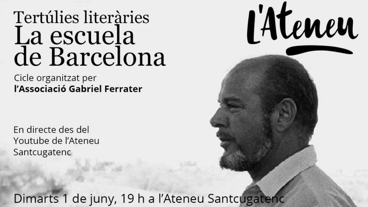 Tertúlies literàries: 'La Escuela de Barcelona. Jaime Gil de Biedma' - Presencial i en línia