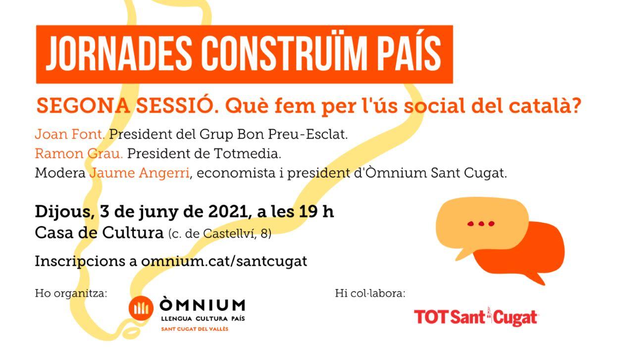 Jornades 'Construïm país': 'Què fem per l'ús social del català?' - Presencial i en línia