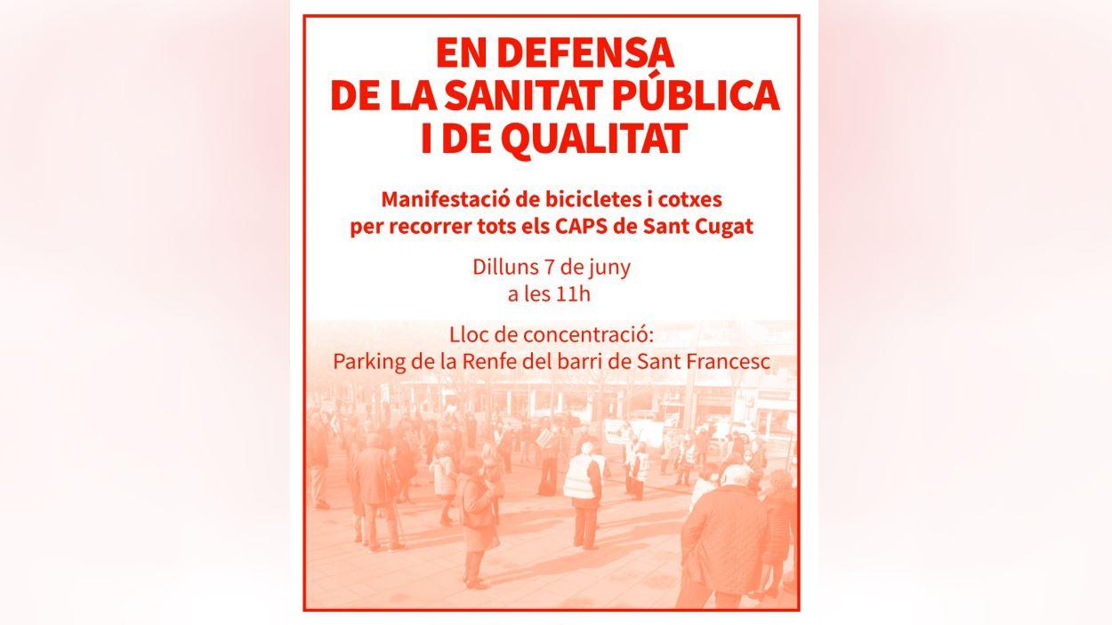 Manifestació en defensa de la sanitat pública i de qualitat
