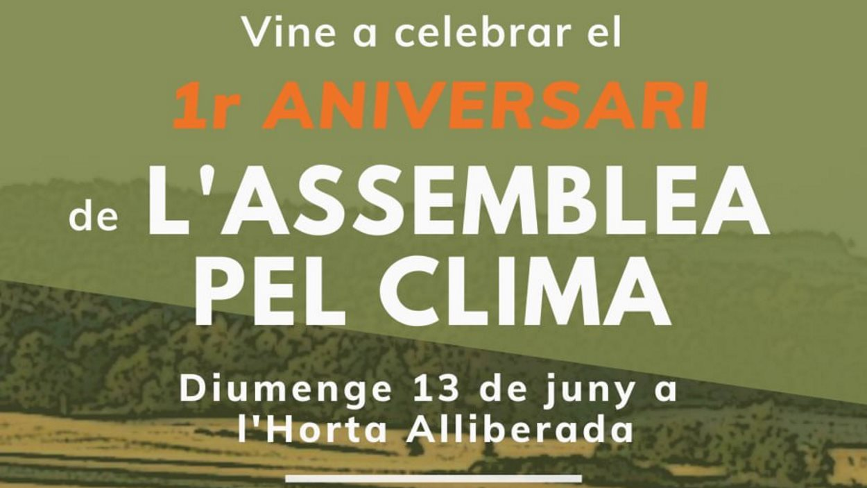 Celebració del 1r aniversari de l'Assemblea pel Clima Sant Cugat